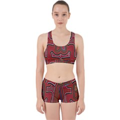 Frog Pattern Work It Out Sports Bra Set