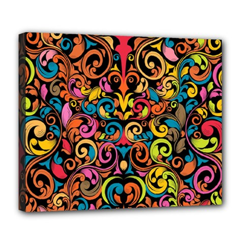 Art Traditional Pattern Deluxe Canvas 24  X 20