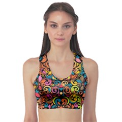 Art Traditional Pattern Sports Bra