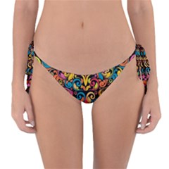 Art Traditional Pattern Reversible Bikini Bottom
