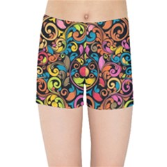 Art Traditional Pattern Kids Sports Shorts