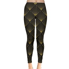 Abstract Stripes Pattern Leggings