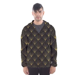 Abstract Stripes Pattern Hooded Wind Breaker (men)