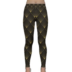 Abstract Stripes Pattern Classic Yoga Leggings