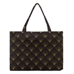 Abstract Stripes Pattern Medium Tote Bag