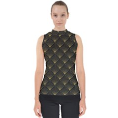 Abstract Stripes Pattern Shell Top