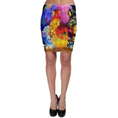Chinese Zodiac Signs Bodycon Skirt