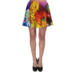 Chinese Zodiac Signs Skater Skirt
