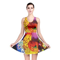 Chinese Zodiac Signs Reversible Skater Dress