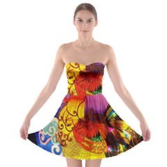 Chinese Zodiac Signs Strapless Bra Top Dress