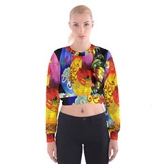 Chinese Zodiac Signs Cropped Sweatshirt