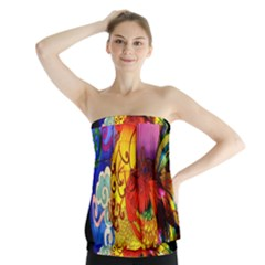 Chinese Zodiac Signs Strapless Top