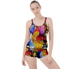 Chinese Zodiac Signs Boyleg Tankini Set