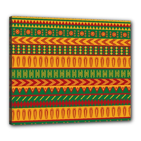 Mexican Pattern Canvas 24  X 20