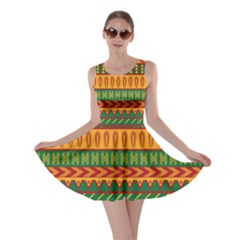 Mexican Pattern Skater Dress