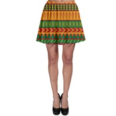 Mexican Pattern Skater Skirt