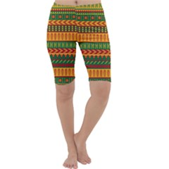 Mexican Pattern Cropped Leggings