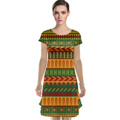 Mexican Pattern Cap Sleeve Nightdress