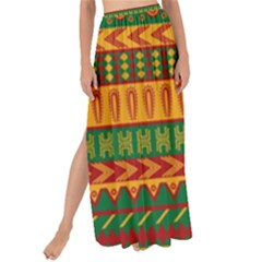 Mexican Pattern Maxi Chiffon Tie Up Sarong