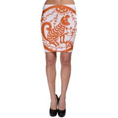 Chinese Zodiac Dog Bodycon Skirt