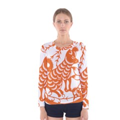 Chinese Zodiac Dog Women s Long Sleeve Tee