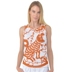 Chinese Zodiac Dog Women s Basketball Tank Top