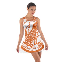 Chinese Zodiac Dog Cotton Racerback Dress