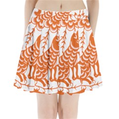 Chinese Zodiac Dog Pleated Mini Skirt