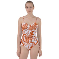 Chinese Zodiac Dog Sweetheart Tankini Set