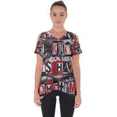 Top Lyrics   Twenty One Pilots The Run And Boys Cut Out Side Drop Tee