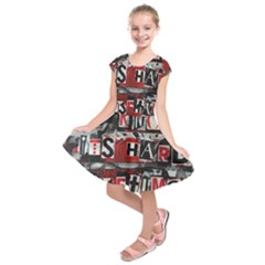 Top Lyrics   Twenty One Pilots The Run And Boys Kids  Short Sleeve Dress