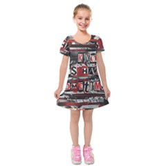 Top Lyrics   Twenty One Pilots The Run And Boys Kids  Short Sleeve Velvet Dress