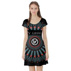 Twenty One Pilots Short Sleeve Skater Dress