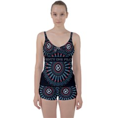 Twenty One Pilots Tie Front Two Piece Tankini
