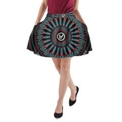 Twenty One Pilots A Line Pocket Skirt