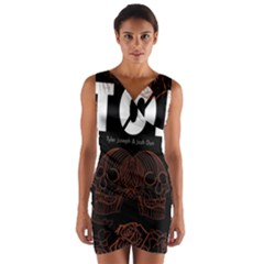 Twenty One Pilots Event Poster Wrap Front Bodycon Dress