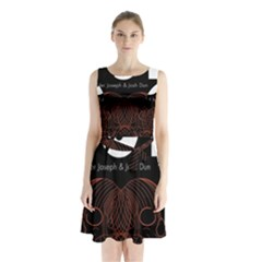 Twenty One Pilots Event Poster Sleeveless Waist Tie Chiffon Dress