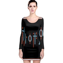 Twenty One Pilots Event Poster Long Sleeve Bodycon Dress