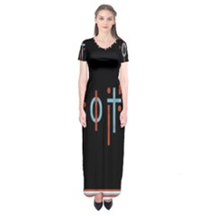 Twenty One Pilots Event Poster Short Sleeve Maxi Dress