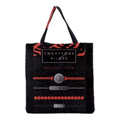 Twenty One Pilots Event Poster Grocery Tote Bag