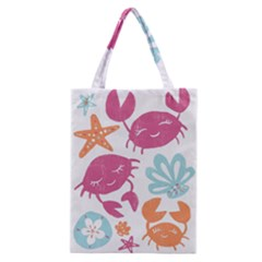 Animals Sea Flower Tropical Crab Classic Tote Bag
