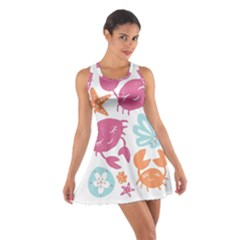 Animals Sea Flower Tropical Crab Cotton Racerback Dress