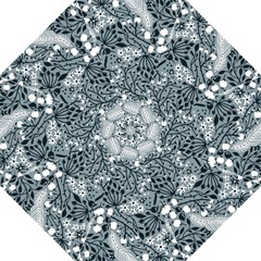 Abstract Floral Pattern Grey Golf Umbrellas
