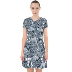 Abstract Floral Pattern Grey Adorable In Chiffon Dress