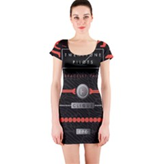 Twenty One Pilots Event Poster Short Sleeve Bodycon Dress