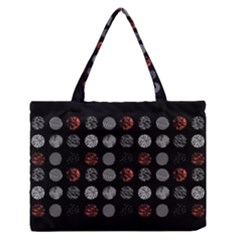Digital Art Dark Pattern Abstract Orange Black White Twenty One Pilots Zipper Medium Tote Bag