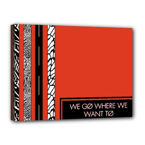Poster Twenty One Pilots We Go Where We Want To Canvas 16  X 12