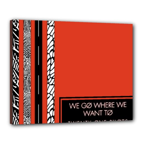 Poster Twenty One Pilots We Go Where We Want To Canvas 20  X 16