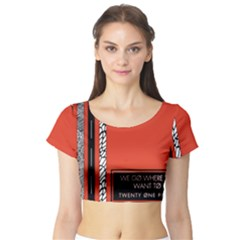 Poster Twenty One Pilots We Go Where We Want To Short Sleeve Crop Top (tight Fit)
