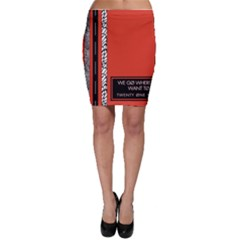 Poster Twenty One Pilots We Go Where We Want To Bodycon Skirt